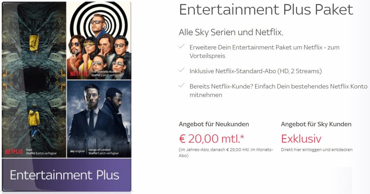 Sky Netflix Kosten