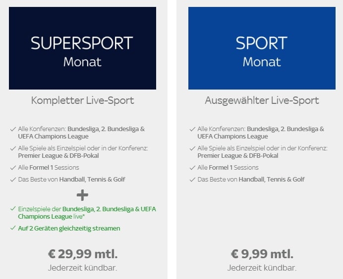 Sky Ticket Probemonat Sport