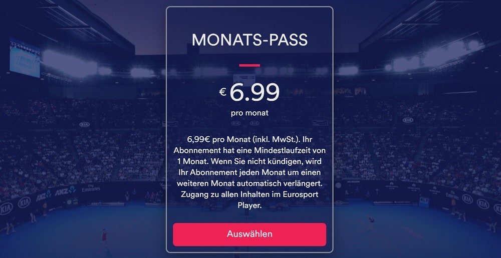 Eurosportplayer Monats-Pass