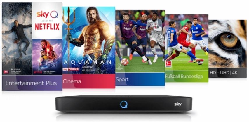 Sky Komplett Angebot inklusive NETFLIX