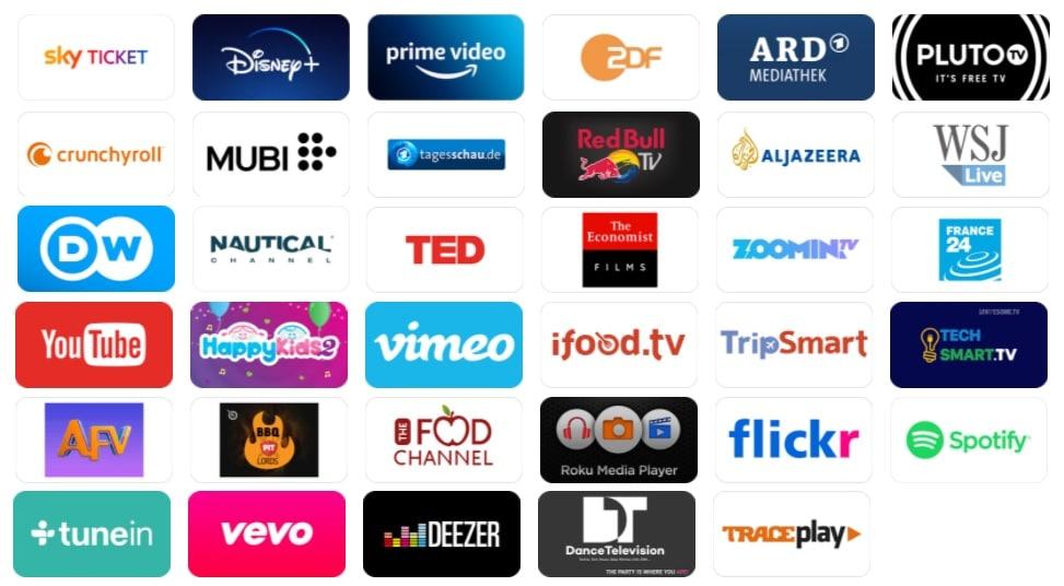 Sky Ticket TV Stick Apps