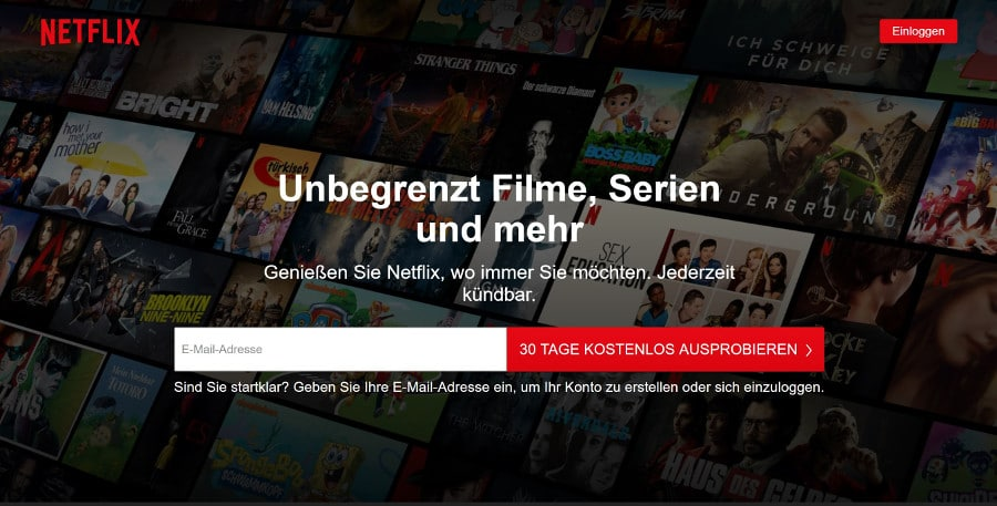 Netflix Angebot - Streaming Dienste