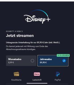 Disney+ Kosten