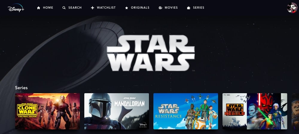 Star-Wars-Serien Disney Plus