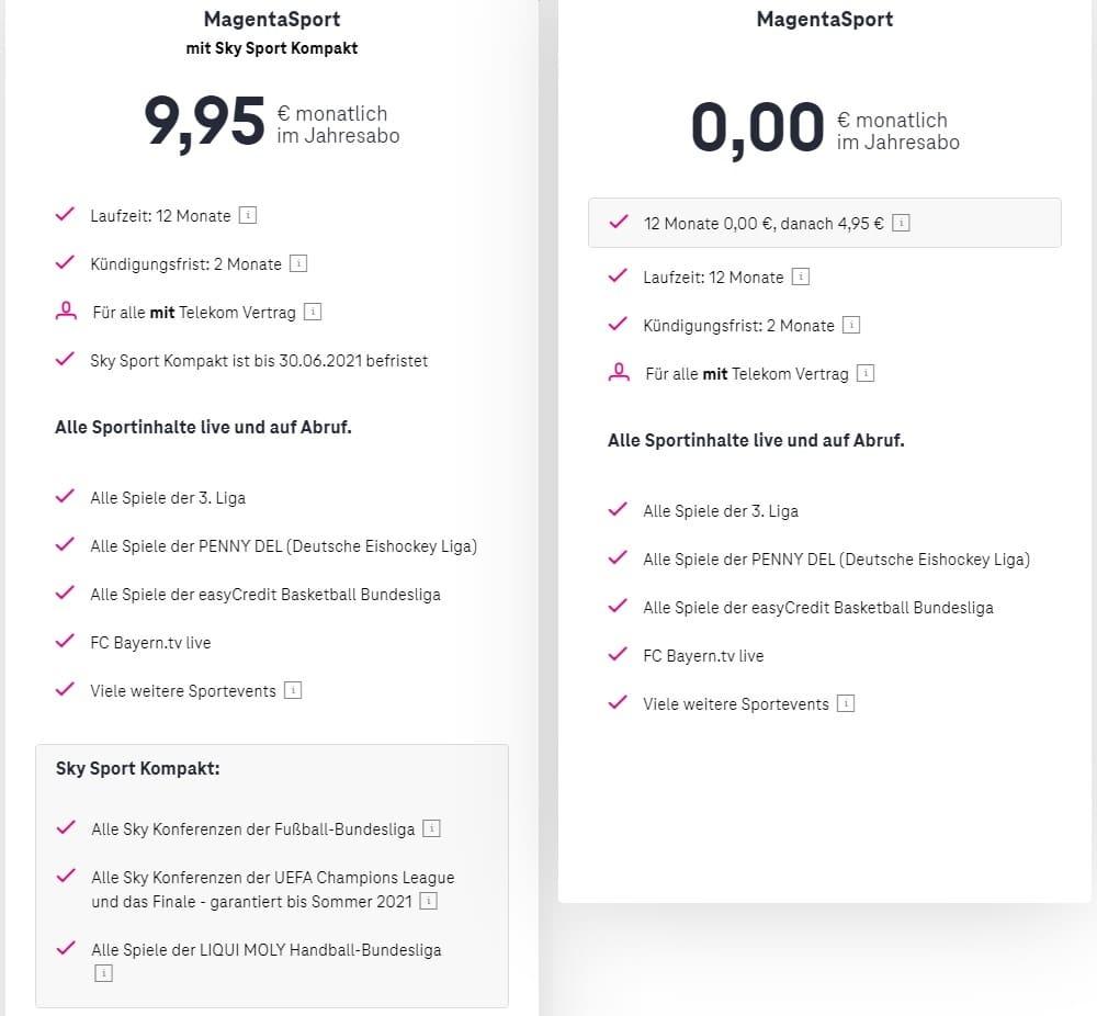 Magenta Sport kostenlos für Telekom-Kunden