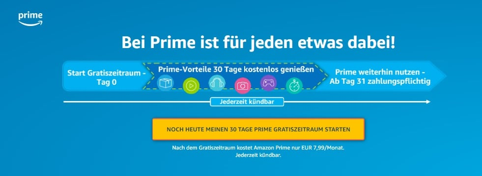 Amazon Prime Video Probemonat - 30 Tage kostenlos testen