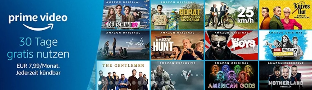 Amazon Prime Video kostenlos testen - Probemonat