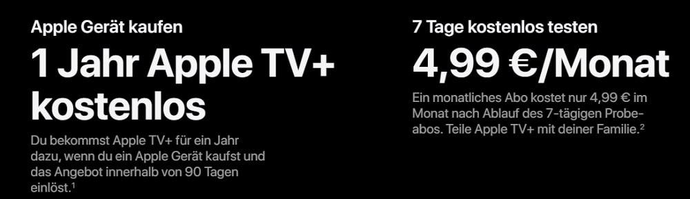 Apple TV+ Angebote