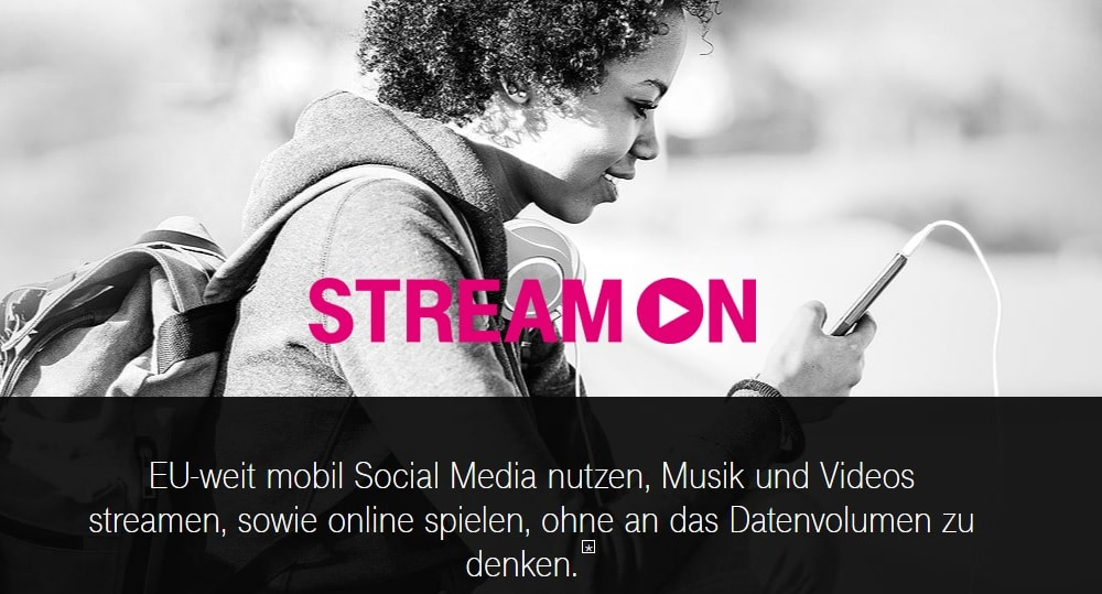 Telekom StreamON - Zero Rating Tarife