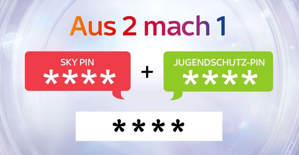 Sky Jugendschutz Pin kombinieren