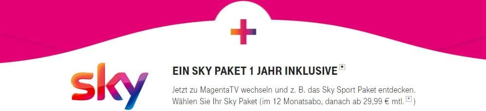 Sky kostenlos mit Magenta TV