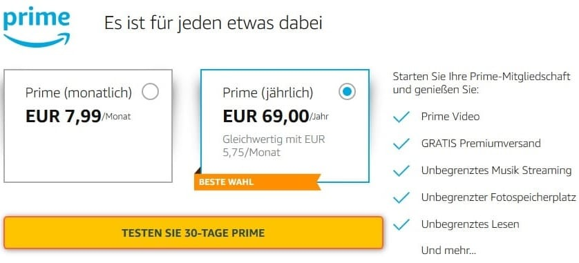Amazon Prime Champions League Kosten