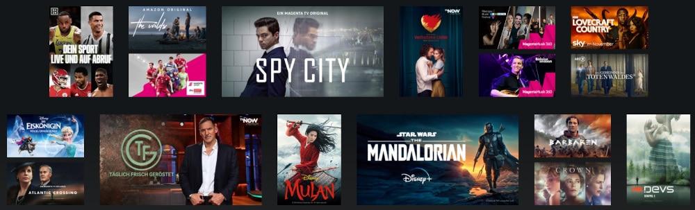 Magenta TV Angebot Serien und Filme