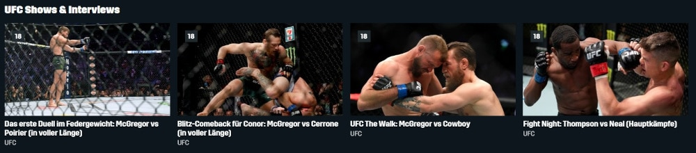 UFC bei DAZN im Livestream und als Wiederholung