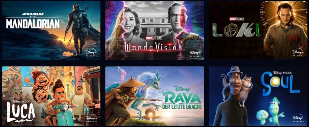 Disney Plus Serien und Film-Highlights