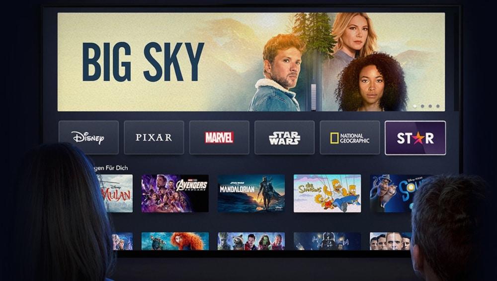 Disney Plus auf TV