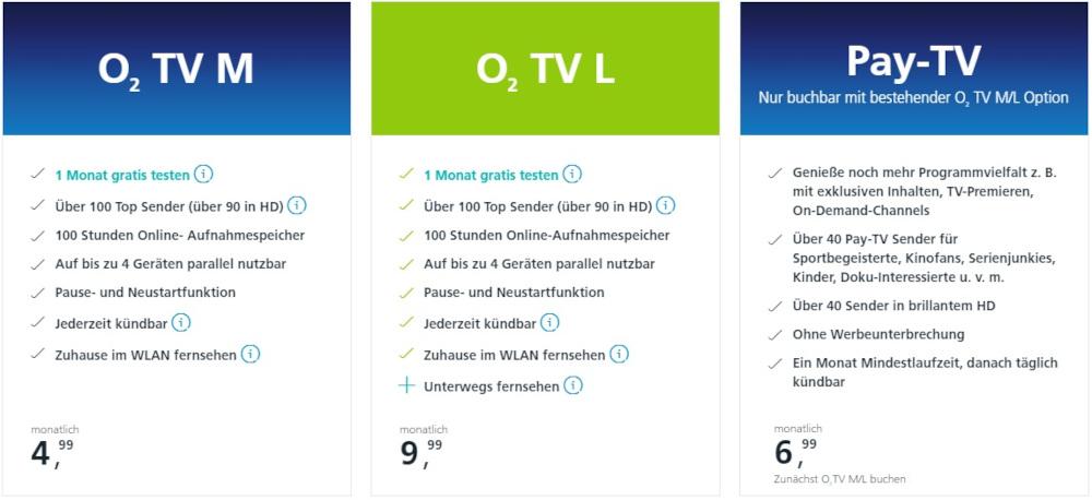 o2 TV Kosten