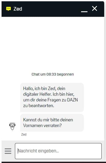 DAZN Live-Chat