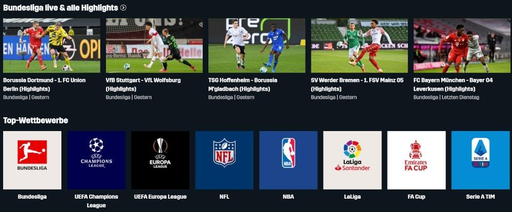 DAZN Programm Bundesliga