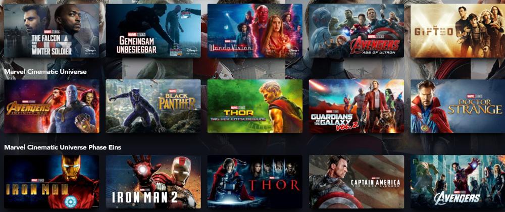 Disney+ Marvel Programm