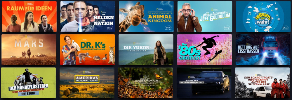 Disney+ National Geographic Programm