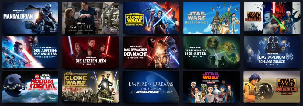 Disney+ Star Wars Program