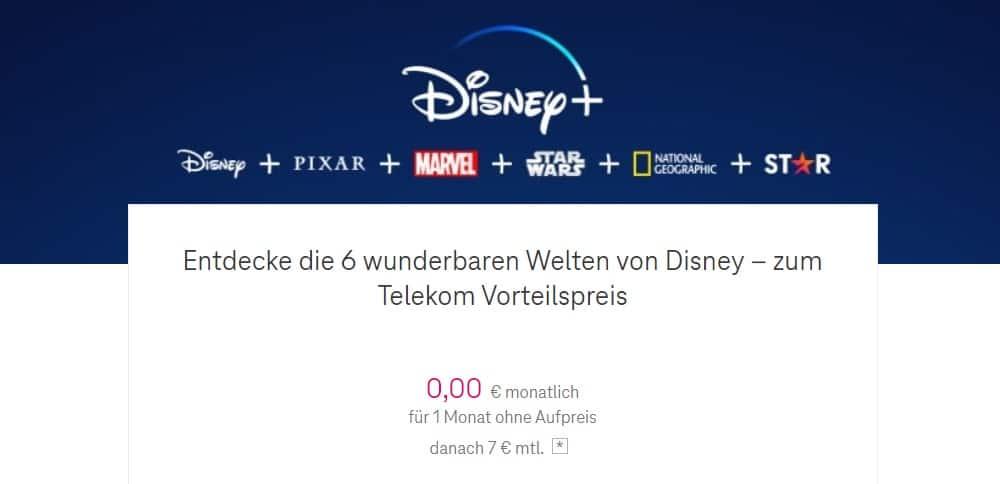 Disney Plus Probemonat bei der Telekom