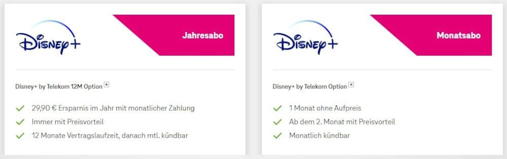 Kosten Disney+ bei der Telekom