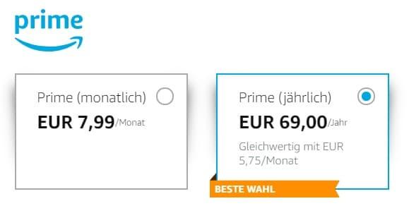 Amazon Prime Kosten
