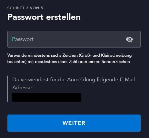 Disney Plus Passwort erstellen