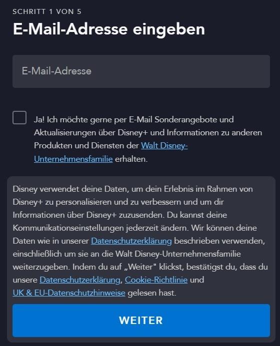 Disney+ registrieren