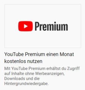 YouTube Premium kostenlos testen
