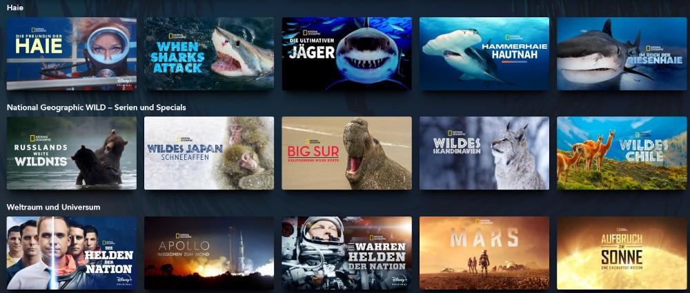 National Geographic Serien und Filme bei Disney+