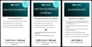 Sky Ticket Angebot