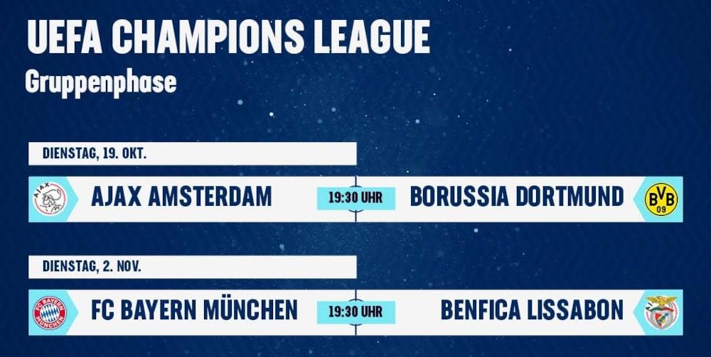 Amazon Prime Champions League Übertragung
