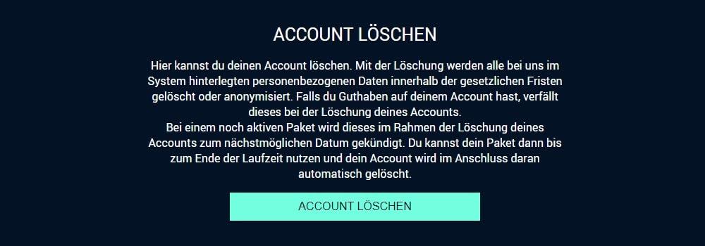 RTL+ Account löschen