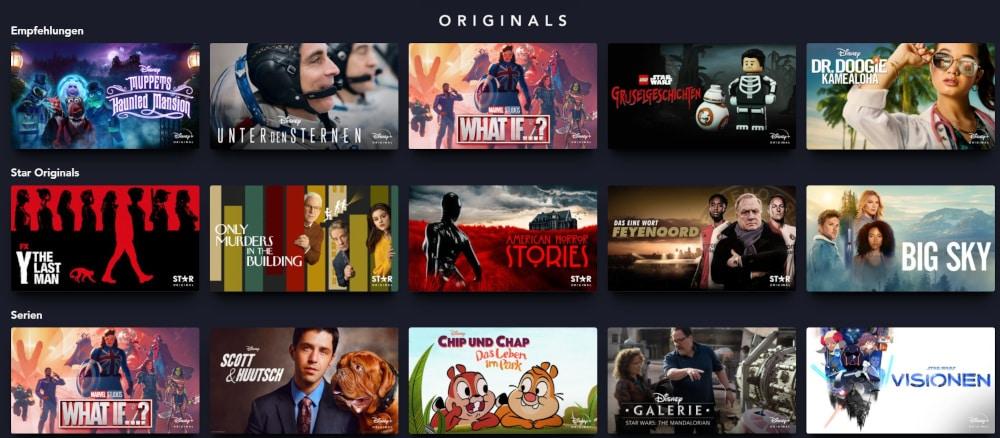 Disney Plus Originals - exklusive Filme und Serien