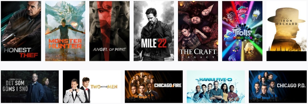 Viaplay Angebot -Filme und Serien